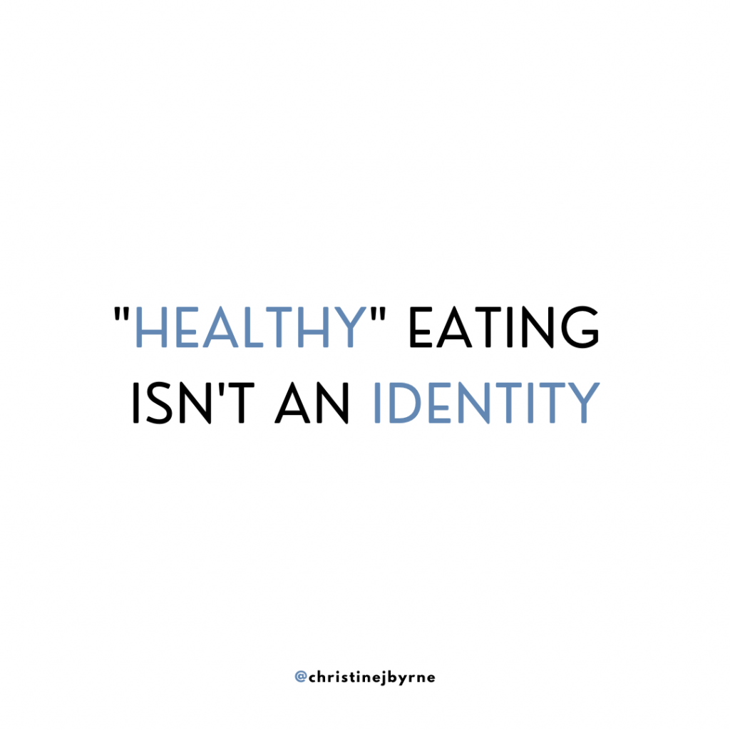 """""""Healthy"""" eating isn't an identity. Learning how to start intuitive eating means separating your values from the food you eat."""